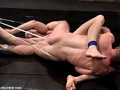 Gay Pictures -  Christian Owen pins down Lexx Scott and fucks him senseless.