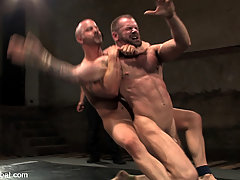 Gay Pictures -  Bad-boy Tober Brandt gets pounded on the mat then pounded in the ass.