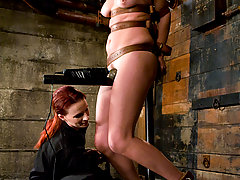 Bondage Pictures -  Bobbie Starr, tied up, ass fucked, forced to cum, and dominatated