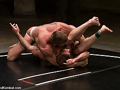 Gay Pictures -  Tyler Saint slams Nick Moretti to the mat and Nick slams Tyler's ass!