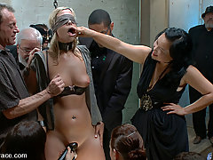 BDSM Pictures -  Tara Lynn Fox is tied up in inescapable bondage and fucked by random dudes