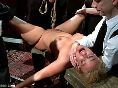 Humiliation Pictures -  Hot Blonde Milf Fucked and Humiliated