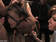 BDSM Pictures -  Cecilia Vega gets gangbanged and dominated while crowds watch