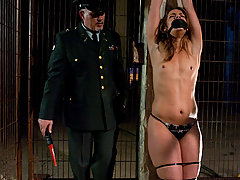 Couples Pictures -  Ten dominated and fucked in role play bondage.