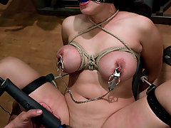 Couples Pictures -  Busty Jessica Bangkok get a bondage and sex workout!