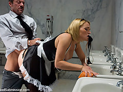 Couples Pictures -  Sexy Maid and Gimp girl fucked in bondage!