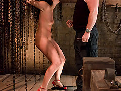 Couples Pictures -  Satine Phoenix in BDSM sex shoot.
