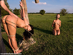 Couples Pictures -  Farm Slaves fucked in bondage from Budapest.