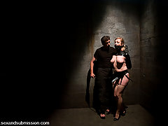 BDSM Pictures -  Blonde and brunette in bondage sex and domination.