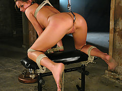 Submission Pictures -  Pretty girl tied up and fucked by man in basement.