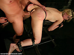 Couples Pictures -  blonde girl in bondage and fucked.