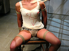Couples Pictures -  Girl interrogated in bondage and fucked by man.