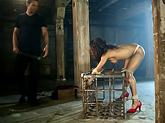 Couples Pictures -  Interracial bondage sex and domination with Marie Luv.