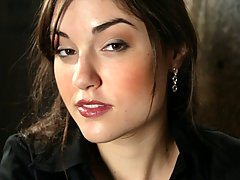 BDSM Pictures -  Sasha Grey's First Bondage Shoot Ever