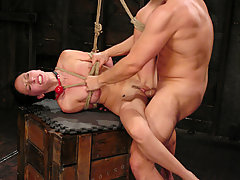 Couples Pictures -  Submissive Veronica Jett is bound, punished, and fucked hard.