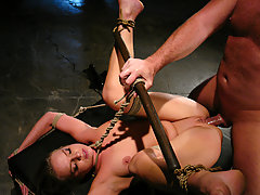 Couples Pictures -  Sarah Sunn, is tied down, gagged and forced to take master's cock
