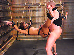 Submission Pictures -  Marie Luv cums as she fights the pain of bondage.