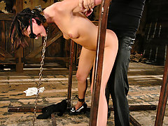 BDSM Pictures -  Naudia Nyce endures SM and bondage while getting fucked hard.