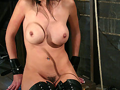 BDSM Pictures -  Shy Love returns for bondage and blowjobs.