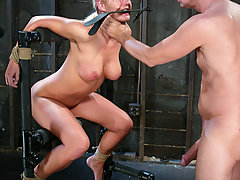 Couples Pictures -  Barbara Summers in various bondage positions endures anal