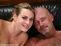 Couples Pictures -  Harmony endures bondage and deep hard fucking.