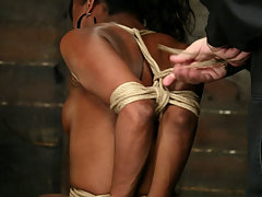 Bondage Pictures -  Stacey Cash suffers in tight in-escapable bondage.