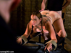 Slaves Pictures -  Hot slave girl wannabe tests her tits and pussy