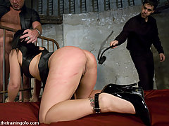 Punishment Pictures -  Julie Night trained to service hard cock