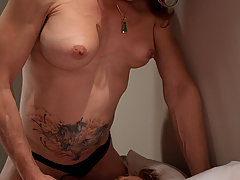 Transgender Pictures -  TS Jasmine Jewels fucks the mouth and ass of a straight man until she cums in his mouth.