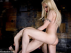 Transgender Pictures -  Shemale La Cherry Spice fucks her slave with her tranny dick