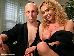 Transgender Pictures -  Hot TS girl seduces and fucks room service guy, with foot worship