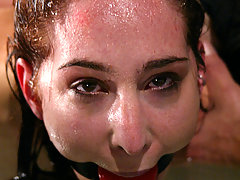 Water Bondage Pictures -  Sexy young woman is tied up, fucked and water tortured