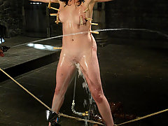 Water Bondage Pictures -  Stacy Stax is stacked but will she make it through the dunk tank?