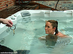 Water Bondage Pictures -  Hot, sexy Christina Carter loves bondage and bdsm games
