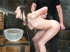 Water Bondage Pictures -  Bobbi Starr gets a gentle introduction to bdsm on Waterbondage