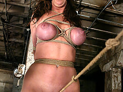 Bondage Pictures -  Voluptuous Christina bound, flogged, and forced to cum!