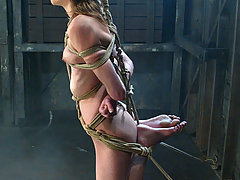 Water Bondage Pictures -  Claire turns Charlotte into frozen human statue