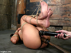 Bondage Pictures -  Love goddess gets tied up and used.