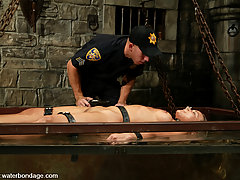 Water Bondage Pictures -  An officer of the law cleans up dirty ho Veronika.