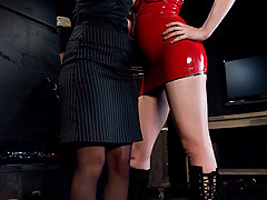 Lesbian Pictures -  Girl on girl domination and bondage!