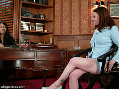 Lesbian Pictures -  She gets spanked, flogged, and cums from the magic wand.