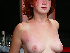 Lesbian Pictures -  Redheaded bartender humiliated by pissed off patron