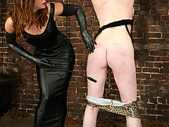 Lesbian Pictures -  Rose takes punishment from Kym WIlde, 1st time strapon too