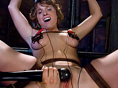 Electro Pictures -  College Co-ed gets her first experience with bondage on camera!!!