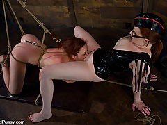 Torture Pictures -  Trinity post gets fisted while in bondage