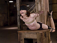 BDSM Pictures -  First time talent gets tied up and fucked with electricity