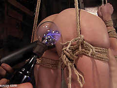 Punishment Pictures -  Amber Rayne cums hard from electrical ass fucking