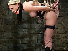 Torture Pictures -  Gia Paloma submits to electrical clamps, prods, and dildos