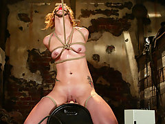 Punishment Pictures -  Pinky Lee is tied in sternuous bondage and fucked with machines