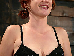 Electro Pictures -  Sweet redhead cums from the electricity